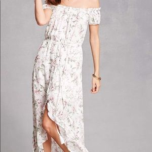 Forever 21 Ruffled Floral High-Low Dress